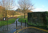 View into Holyrood Park towards Arthur's Seat from St Leonard's Bank