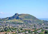 View to the NE from Blackford Hill towards Arthur's Seat in Holyrood Park