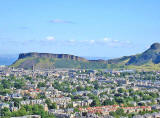 View to the NE from Blackford Hill towards Salisbury Crags and Arthur's Seat in Holyrood Park