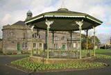 Bandstand and Town Hall in Glebe Park, Bo'ness