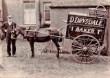 David Drysdale and his horse and cart at Broxburn, West Lothian,around 1910 -  before moving to his shop at 21 Arthur Street, West Lothian.