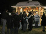 A snack bar on Calton Hill, following the torchlight Procession to mark the start of Edinburgh's New Year Celebrations  -  29 December 2005