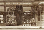 H W Turner's Ironmonger Shop at 100 St John's Road, Corstorphine  -  Photographed around 1920