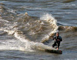Kitesurfing between Cramond and Silverknowes - July 2009