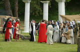 A scene from 'The Life of Jesus Christ' - a play presented at Dundas Castle  -  At the Temple