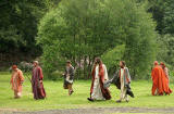A scene from 'The Life of Jesus Christ' - a play presented at Dundas Castle  -  Jesus and His Disciples return from Lake Galilee