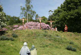 A scene from 'The Life of Jesus Christ' - a play presented at Dundas Castle  -  Jesus is Crucified on the Cross at Calvary