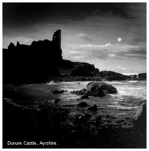 Dunure Castle, Ayrshire  -  Photograph by Kirk V Toft, 2001