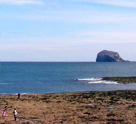The Bass Rock, seen from outside the Seabird Centre, North Berwick
