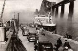 The Forth Rail Bridge and Ferry at South Queensferry before the opening of The Forth Rail Bridge