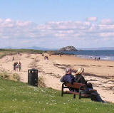 The Lamb Island, about a mile NW of North Berwick.  The photo was taken from North Berwick at Easter 2009