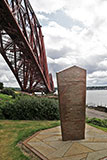 The Forth Bridge and Memorial to those who died building the bridge  -  North Queensferry