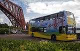Tour Bus and Forth Bridge  -  North Queensferry