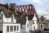The Forth Bridge towering above the Houses  -  North Queensferry