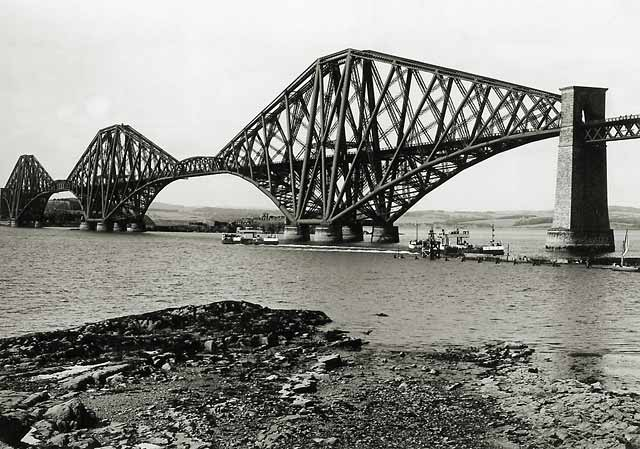 Photograph by Norward Inglis  -  The Forth Rail Bridge from South Queensferry  -  built 1890