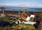 Looking down on Wardie Square and Granton Harbour from Granton Road  -  October 2002