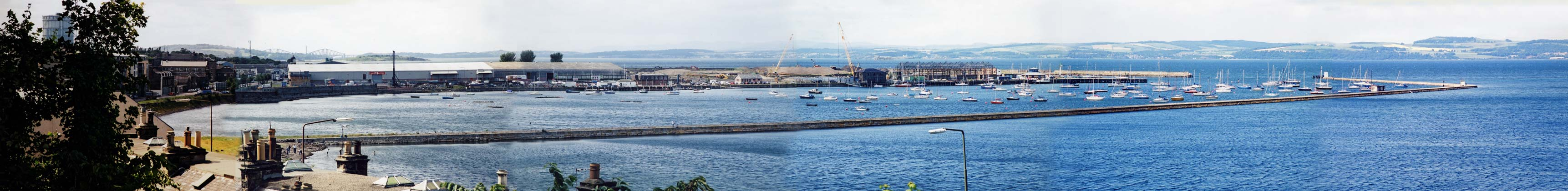 Granton Harbour Panorama  -  made from six photographs taken on 30 June 2004