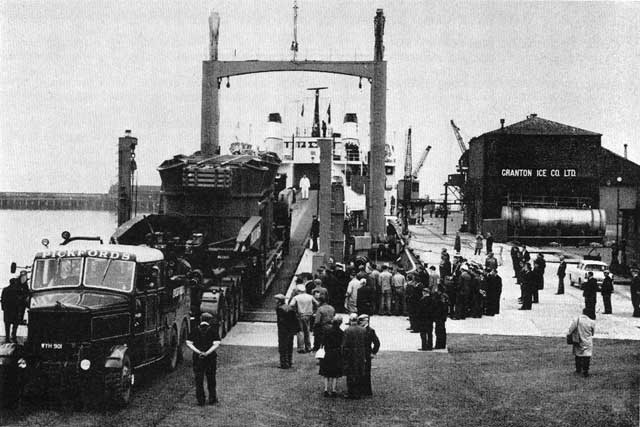 Granton Harbour - A load for a power station arrives from Bruce Peebles in the 1960s