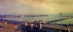 Looking down on Granton Harbour from Granton Road, 1960-62  -  panorama