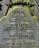 Zoom-in to the Lettering on Peter Devine's Headstone in Dalry Cemetery