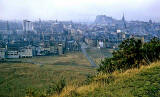 Looking from Holyrood Park towards Brown Street