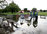 Inch Park, Liberton  -  August 2008  -  Flood in the Park