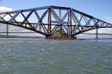 Forth Rail Bridge and the island of Inchgarvie - view from the Firth of Forth