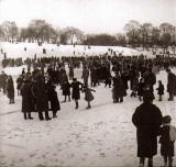 Inverleith Park  -  in the snow  -  perhaps around 1960