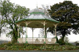 The restored bandstand in Peel Park, Kirkintilloch