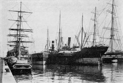 Leith Docks  -  A photograph from the Edinburgh Official Guide, 1923