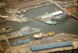 Photographs by Peter Stubbs  - Leith Docks  -  View from above  -  1989