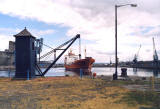 Leith Docks  -  1994 perhaps  -  Reinbek and the oldest crane in Leith Docks