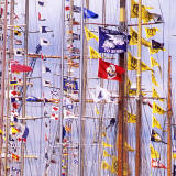 Leith Docks  -  Tall Ship Flags, zoom-in