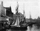 Sailing ship at Leith Harbour  -  Photograph in Edinburgh Official Guide, 1923
