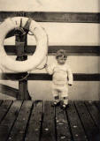 Leith Harbour, West Pier  -  Photograph of Joe Moracen in 1936.