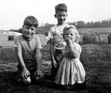 Little France Caravan Site  -  David Bain, Peter O_Hara and Susan Bain, Caravans and Hay Stacks