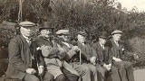 Archibald Veitch with friends at Marrionvale Park  -  early 1940s