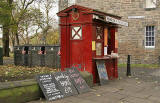 The Meadows  -  This is one of several old Edinburgh Police Boxes that have been converted into Coffee Kiosks
