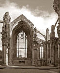 The Ruin of Melrose Abbey in the Scottish Borders