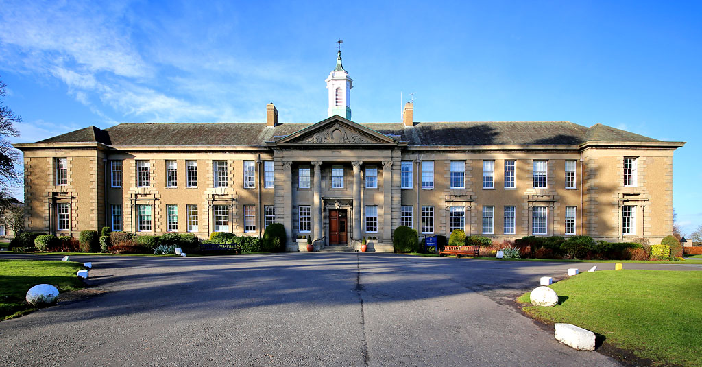 Merchiston Castle School  -  The main School Building and Drive