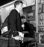 Ian Rankin giving a talk and signing books at Merchiston Castle School, Colinton  -  February 2013