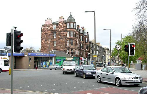 Photograph by Sarah Dalrymple, Edinburgh  -  2007  -  Morningside Clock and Morningside Station