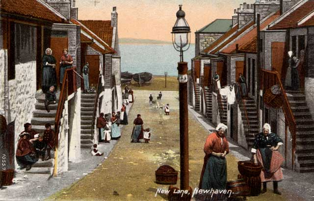 Newhaven, New Lane  -  Post card   -  Hartmann  -  enlarged