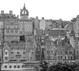 Looking towards the Old Town of Edinburgh from Princes Street