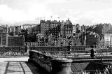 View to Edinburgh Old Town from the roof of Waverley Market  -  FC Inglis, 1934