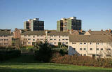 Oxgangs  -  The day of the demolition of high-rise flats, Allermuir Court and Caerketton Court