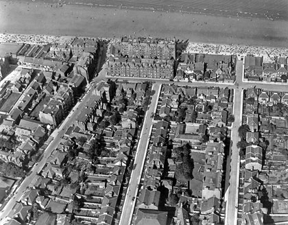 Portobello Streets and Beach  -  Aerial View, 1930