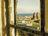 View to the east from Portobello Open Air Pool, now closed - 1985