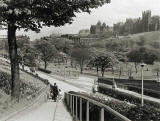 Photograph by Norward Inglis  -  West Princes Street Gardens looking towards the National Galleries and Edinburgh Old Town