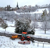 Princes Street Gardens and Tractor  -  View to the SE